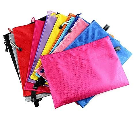 3 × kentop para documentos con cremallera bolsa – Carpeta archivador carpeta archivadora (Bolsa impermeable