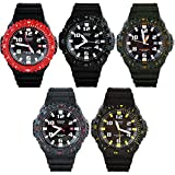 Casio Mens Classic Diver-Look Solar Powered Analog Watch w/ Bi-Directional Bezel