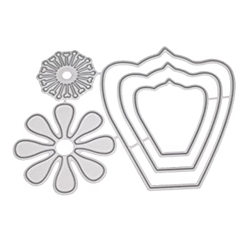 DIPOLA Stencil Mini Deco Vintage Figura Flores,DIY Juego de Troqueles Cutting Pad Replacements: Amazon.es: Hogar
