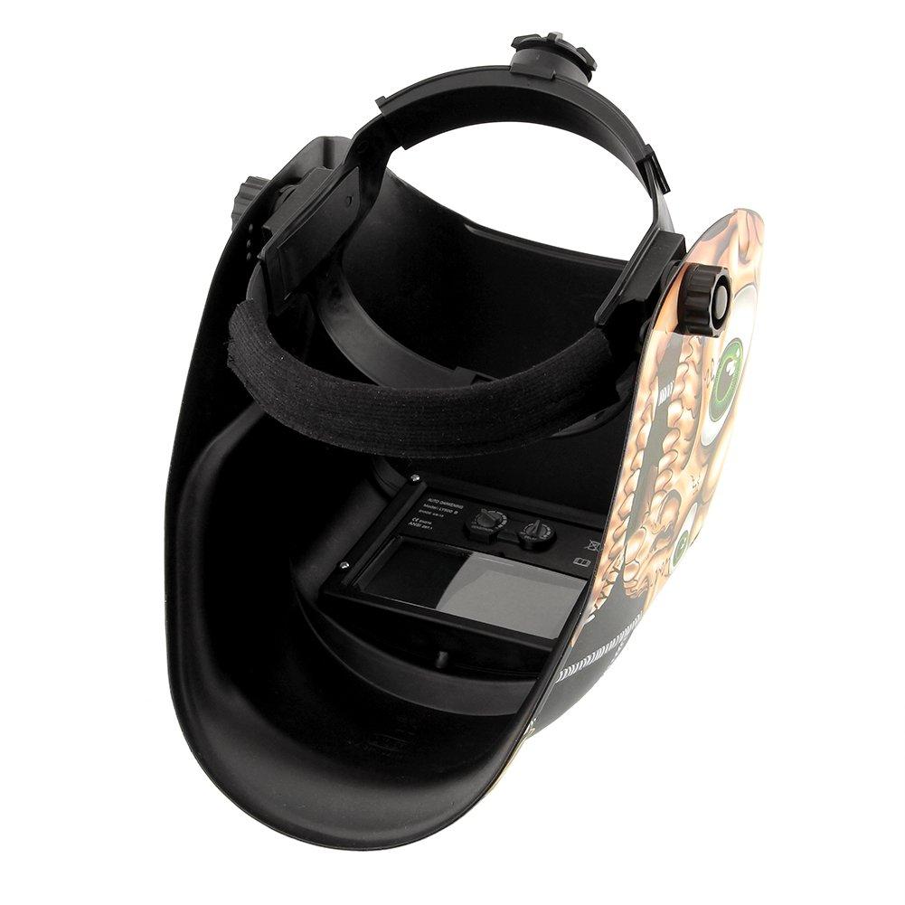 Tiptiper Máscara abrasiva del soldador, oscurecimiento automático máscara solar del casco de la soldadura con función de pulido de la rutina: Amazon.es: ...