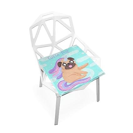 Amazon.com: Plao suave asiento de cojín unicornio perro ...