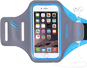 Triomph Armband for iPhone 8, 7, 6, 6S, SE, 5, 5C, 5S iPod Galaxy S6, S6 Edge S5 with Screen Protecter and Key Cards Money Holder, for Running, Workouts, Jogging, Hiking, Biking, Walking