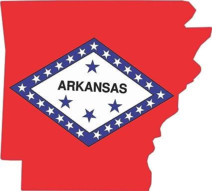 4 x 3 5 die cut arkansas shape state flag bumper sticker decal stickers decals