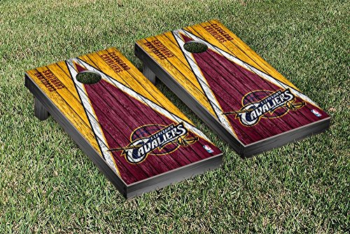 Cleveland Cavaliers NBA Basketball Regulation Cornhole Game Set Triangle Weathered Version by Victory Tailgate