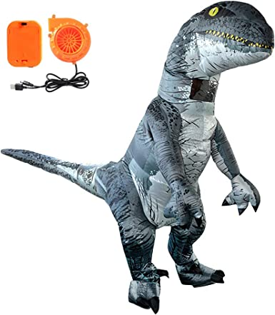 Amazon.com: TiiMi Disfraz de dinosaurio inflable para ...