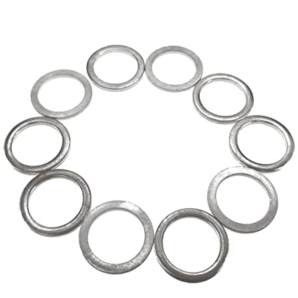 Amazon Com 10 Pcs Aluminum Oil Drain Plug Gasket Crush Washers Seal