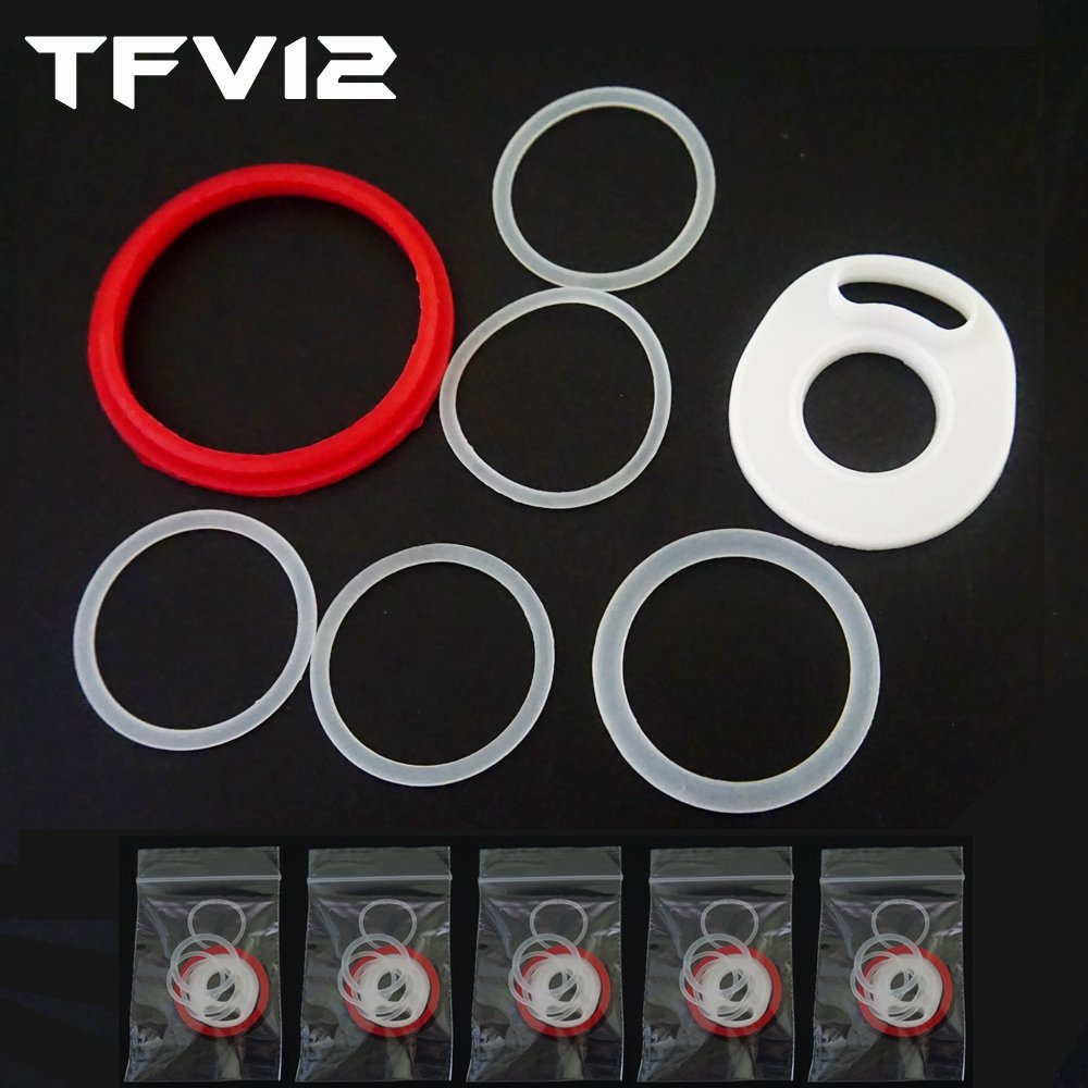5 Sets TFV12 Oring Silicone Seals O Rings (7PCS) PIRATE COIL