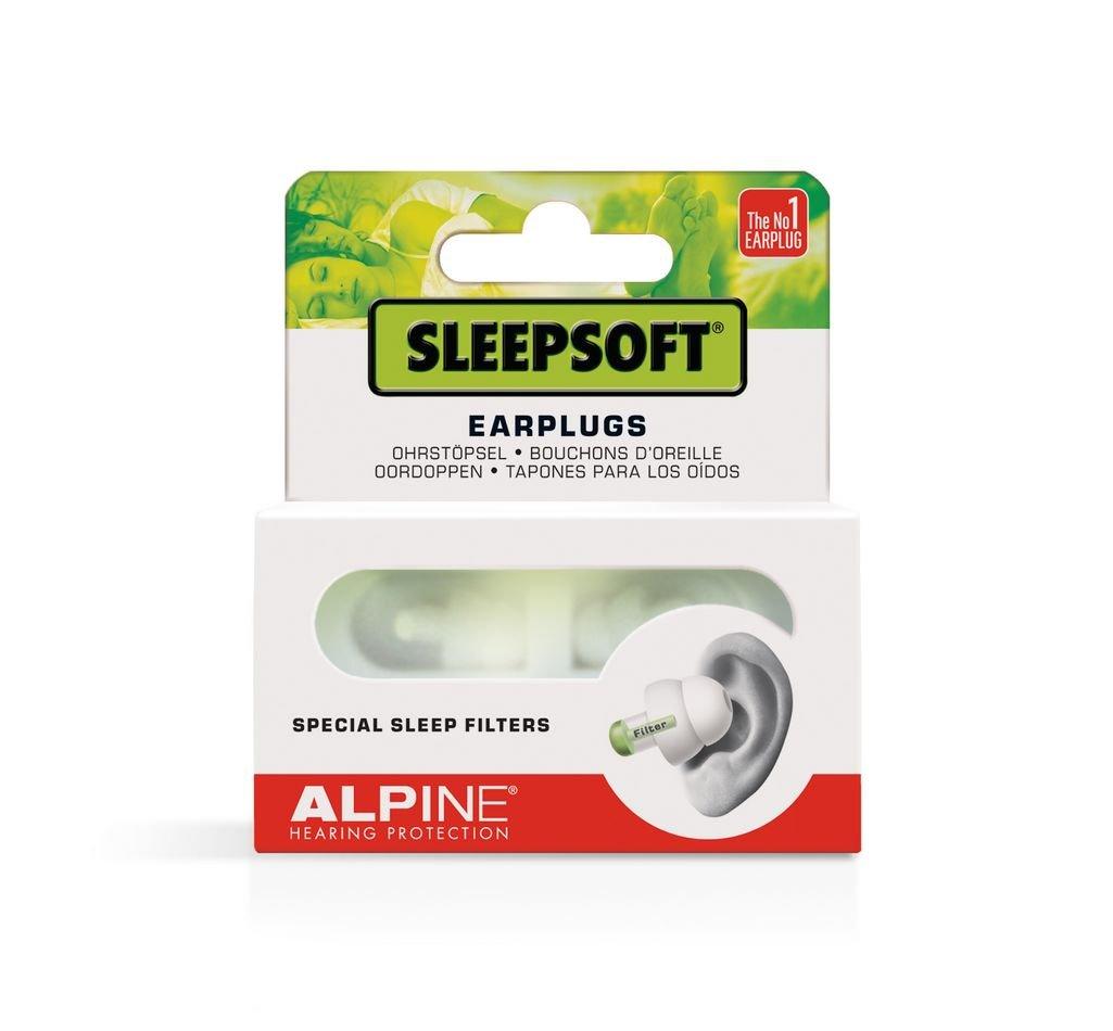 Alpine SleepSoft Bouchons d'oreilles pour Dormir Blanc Alpine Hearing Protection 111.21.150 SystÚmes In-Ear
