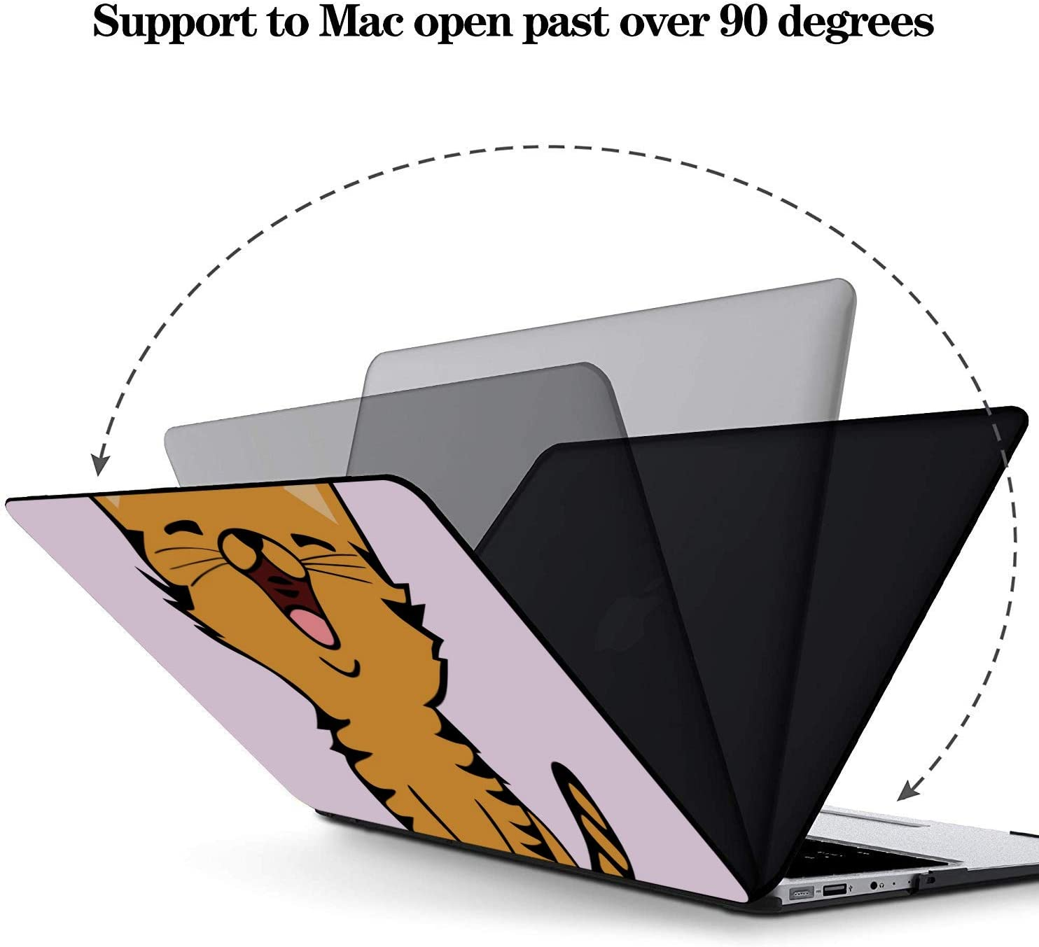 MacBook Pro 15 Cover Cat Singing Music Singer Meowing Plastic Hard Shell Compatible Mac Air 11 Pro 13 15 MacBook Pro 13 Cover Protection for MacBook 2016-2019 Version