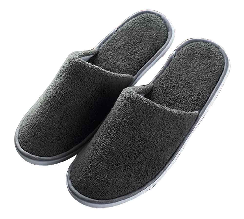 Black Temptation Set of 10 Disposable Closed Toe Slippers One Size Non-Skid Slippers [Gray] by Black Temptation