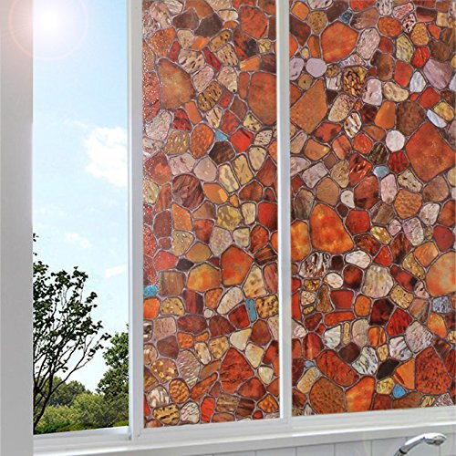 UPC 889284800625, Bloss Small Stones Privacy Window Film Home Stained Decorative Window Door Glass Privacy Sticker Film For Bedroom Bathroom (17.7'' x 78.7'')
