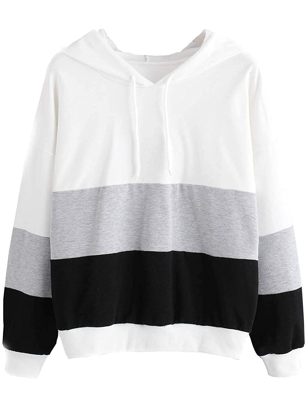 Womens Tunic Hoodie Patchwork Tops Sweatshirts Clearance Teen Girls Raglan Sleeve Pullover Jumper Sweater Jacket