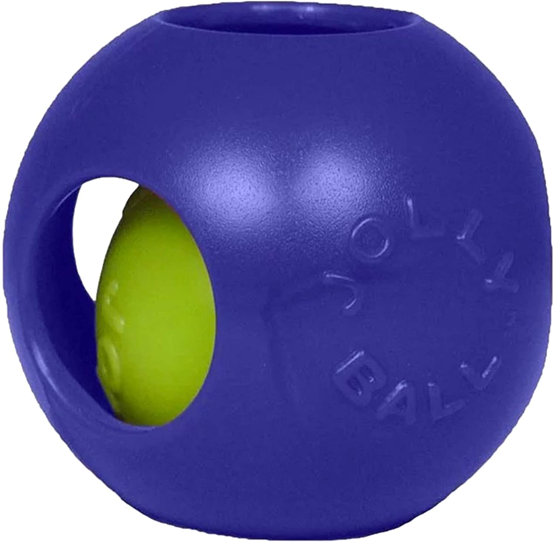 Blue 6.5 H x 6 W x 6.25 D Size Jolly Pets Teaser Ball Color