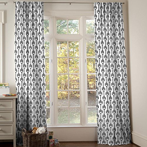 Carousel Designs Black Arrow Drape Panel 96-Inch Length Standard Lining 42-Inch Width by Carousel Designs