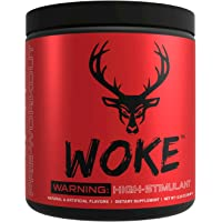 Bucked Up - Woke - HIGH STIM Pre Workout - Best Tasting - Focus Nootropic, Pump, Strength and Growth, 30 Servings (Blue…