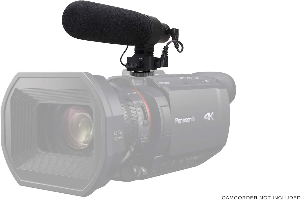 Panasonic HDC-HS9 Camcorder External Microphone Vidpro XM-AD5 Mini Pre-Amp Smart Mixer with Dual Condenser Microphones for DSLR/'s with SDC-26 Case Video Cameras and Phones