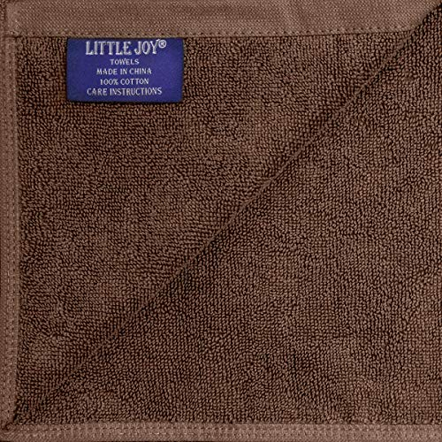 LITTLE JOY Bath Towels Set Extra Large 100% Cotton Highly Absorbent Super Soft Bathroom Towels Sets (Brown, Set of 2)