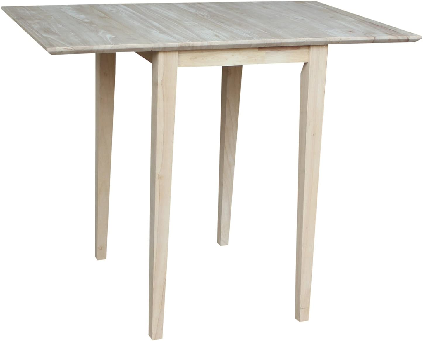 International Concepts Small Drop-leaf Table, Unfinished