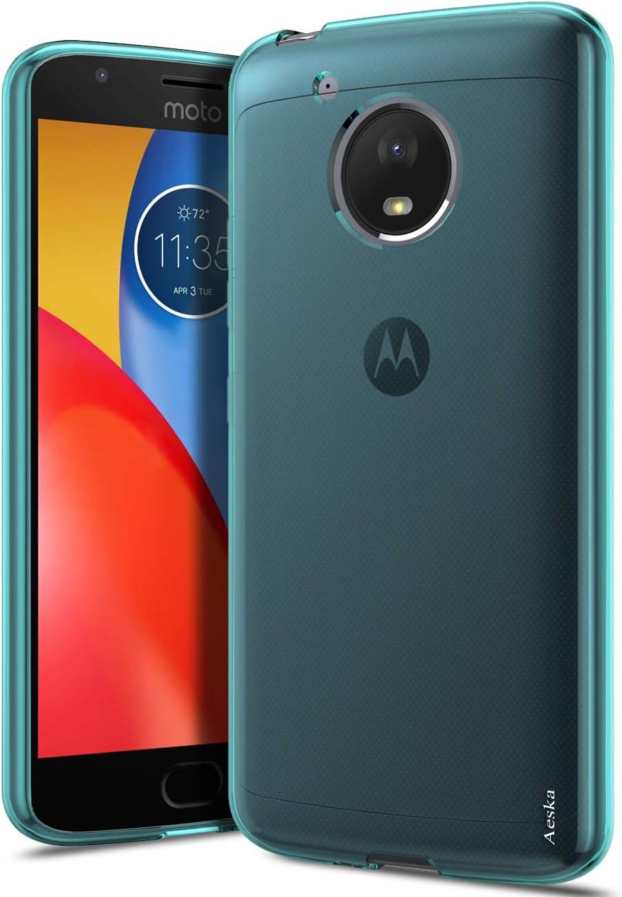 Moto E4 Plus Case, Aeska Ultra [Slim Thin] Flexible TPU Gel Rubber Soft Skin Silicone Protective Case Cover for Motorola Moto E4 Plus (Mint)