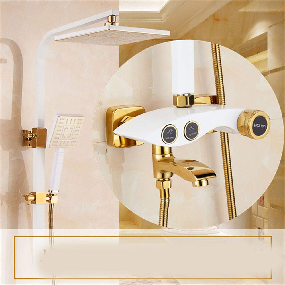 K Hlluya Professional Sink Mixer Tap Kitchen Faucet Shower Kit Full brass faucets cold water shower head shower head wall shower,