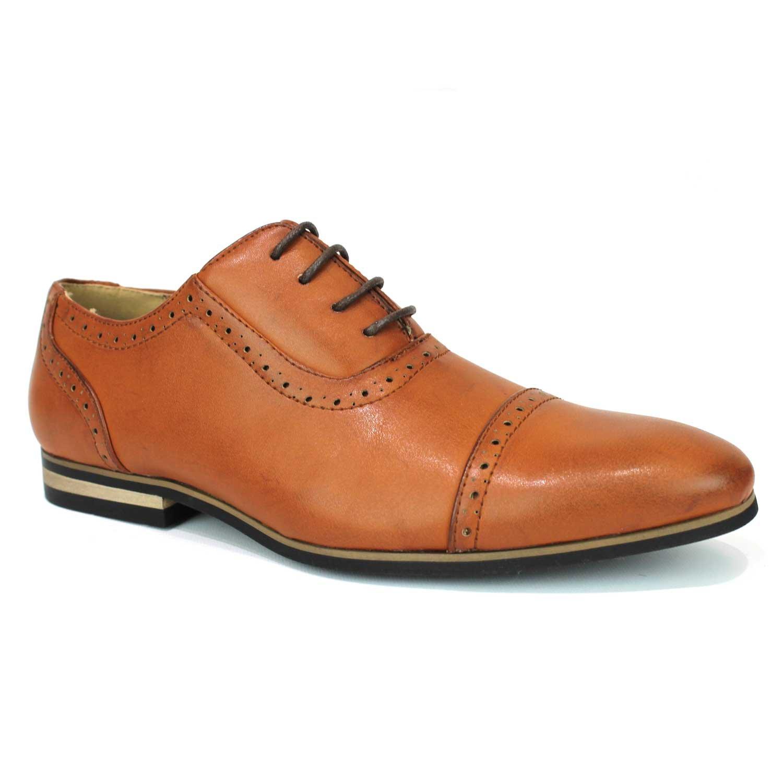 e2e5d006a33f8 New Men's Cap Toe Dress Shoes Modern Lace Up Oxfords Formal