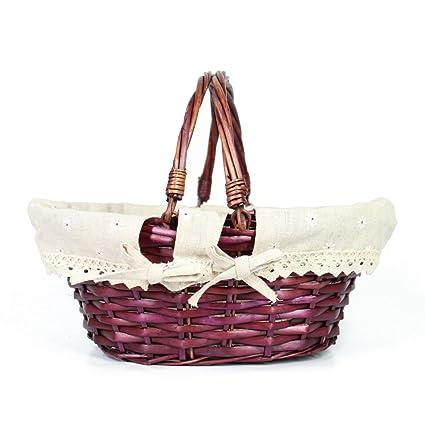 Amazon meiem easter basket gift basket oval willow basket with meiem easter basket gift basket oval willow basket with double drop down handles cheap wicker woven negle Choice Image