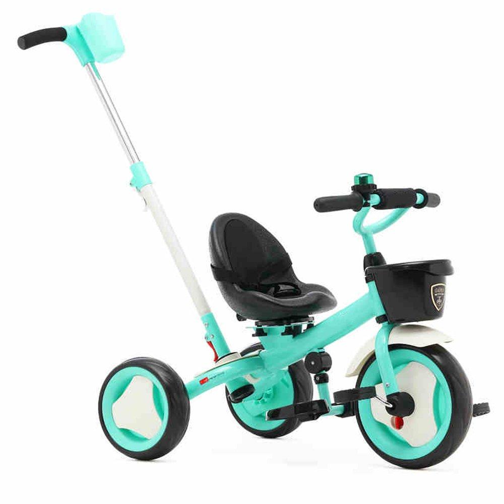 HAIZHEN マウンテンバイク Trike子供3輪キッズ三輪車ボーイズとガールズ3ウィーラー 新生児 B07CG24FW4青