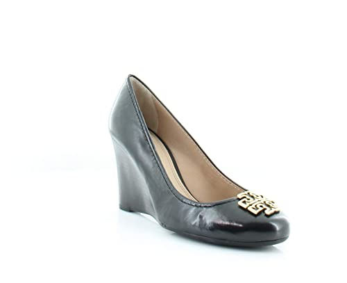 e088acc5c3 Tory Burch Melinda 85MM Wedge Shoes, Leather, Black/Gold (6.5 B(M) US):  Amazon.ca: Shoes & Handbags
