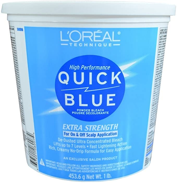 Amazon.com : L'Oreal Quick Blue Powder Bleach, 16 Ounce : Chemical Hair  Dyes : Beauty