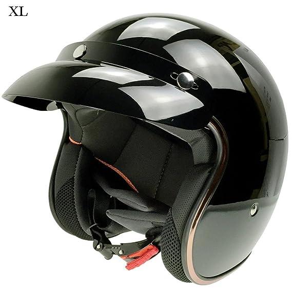Casco de Moto Retro Harley casco casco de seguridad para Hombres y Mujeres: Amazon.es: Bricolaje y herramientas