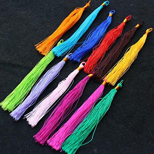 Dalab 150pcs Yarn Tassles 3'' Multi Colored Thread Tassels Silk Substitute Rayon Better Then Polyester ranyon by DalaB