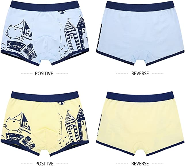 LeQeZe Boys Boxer Shorts 6 Pack Toddler Underwear Kids Briefs Cotton Underpants Size 2-11 Years