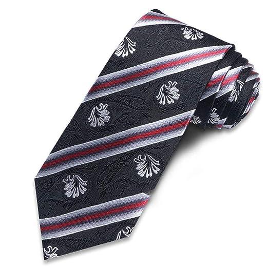 Corbata Hombre, Clásico A Rayas Negocio Seda Corbata Elegante ...