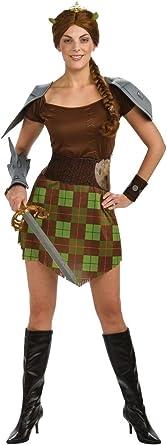 Amazon Com Shrek Princess Fiona Warrior Adult Costume Standard Toys Games