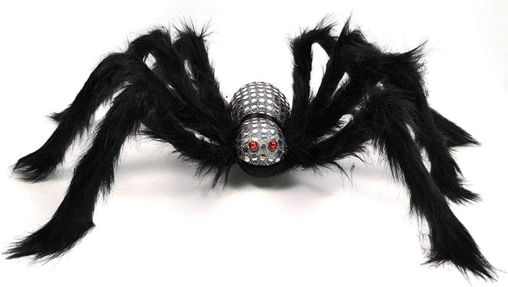 Accessoires décoratifs solides Halloween Simulation en peluche araignée Décorations de fêtes