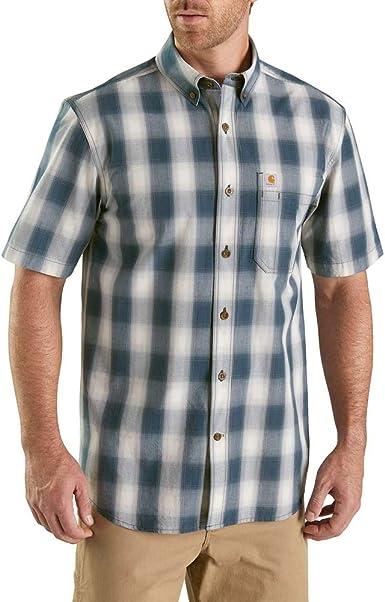 Carhartt Camisa de manga corta con botones para hombre