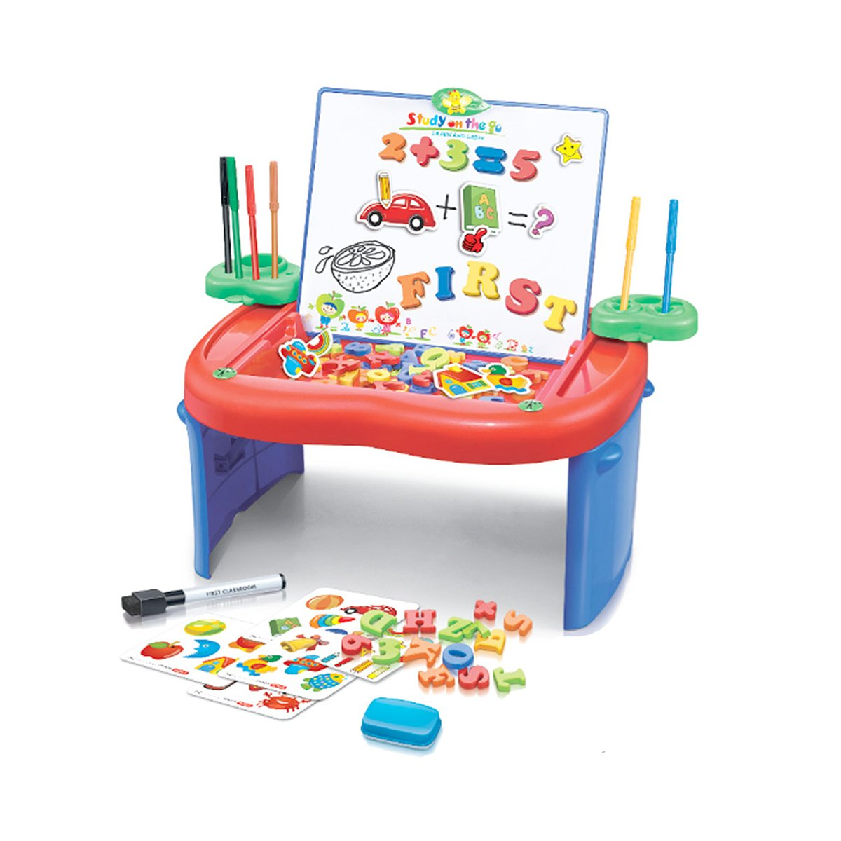 DaVinci Kids Portable Apple Desk with Magnetic Letters and Dry-Erase Markers