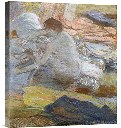 (Global Gallery Budget GCS-264821-22-142 Edgar Degas Woman Wiping Her Feet Gallery Wrap Giclee on Canvas Print Wall Art)