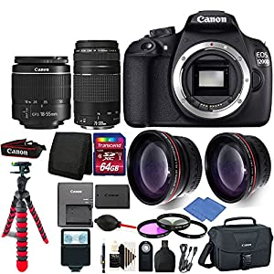 Canon EOS Rebel 1200D/T5 Digital SLR Camera with 4 Lens Complete Accessory Kit