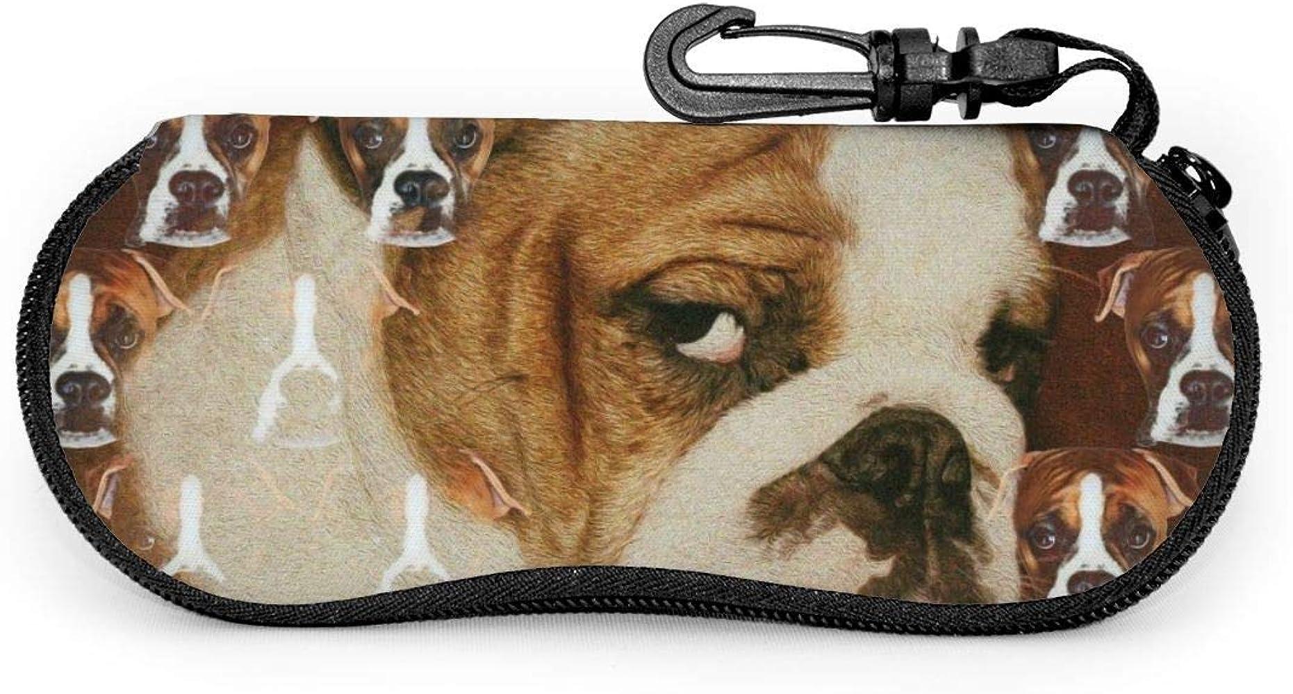 Bran-don Gafas de sol de Bulldog inglés peludo con hebilla de bloqueo Estuche de gafas de bolsa suave: Amazon.es: Ropa y accesorios