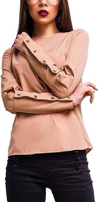 Camisa Casual para Mujer Blusas De Gasa De Manga Larga Camisas De Otoño: Amazon.es: Ropa y accesorios