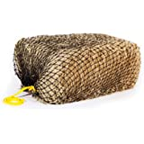 """Texas Haynet - Square Net Hay Holder for Horses - Durable Nylon Square Bale Hay Net Slow Feed - American Made Hay Rope Net - Easily Fits Bales 36x18x18"""" with 1.5"""" Holes"""
