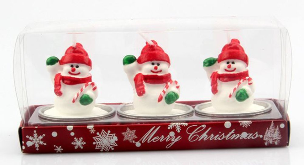 Candle Flame Decorative Santa Claus House Gift Box Pine Cones for Christmas Decor (6)