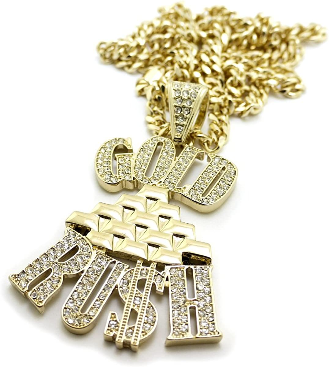 NYFASHION101 Assorted Pendant with 6mm 36 Miami Cuban Chain Necklace