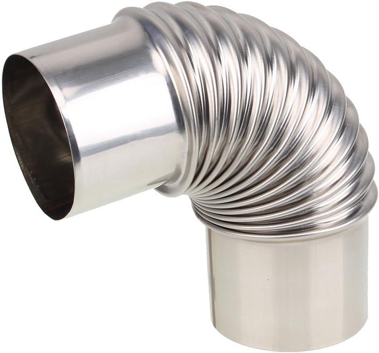 BQLZR caldera calentador de agua Codo Tubo de escape de acero inoxidable para Gas Calentador de agua