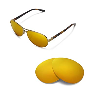 0767e392175 Walleva Replacement Lenses for Oakley Feedback- Multiple Options (24K Gold  Mirror Coated - Polarized