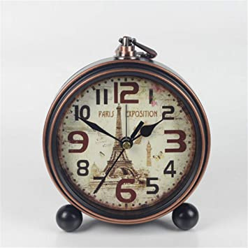 AILEYOU Reloj Retro Relojes De Mesa Reloj De Escritorio De La ...