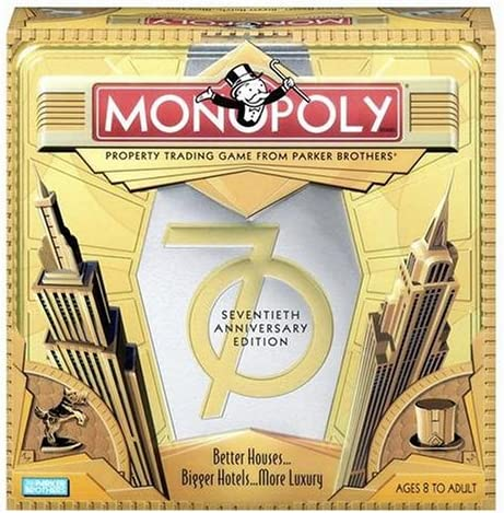Monopoly Game 70th Anniversary Edition: Amazon.es: Juguetes y juegos