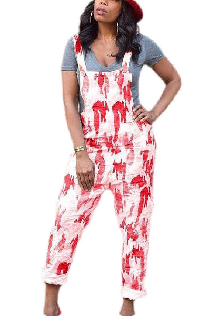 WAWAYA Womens Bib Wide Leg Basic Gradient Color Overalls Romper Jumpsuits