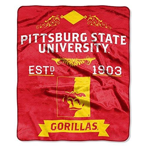 Northwest NCAA Pittsburg State Gorillas Plush Raschel Crimson 50